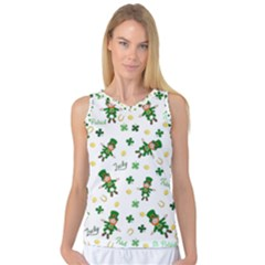 St Patricks Day Pattern Women s Basketball Tank Top