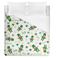St Patricks Day Pattern Duvet Cover (queen Size)