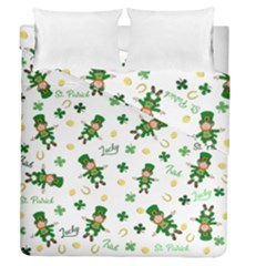 St Patricks Day Pattern Duvet Cover Double Side (queen Size)