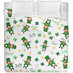 St Patricks Day Pattern Duvet Cover Double Side (king Size)