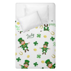 St Patricks Day Pattern Duvet Cover Double Side (single Size)