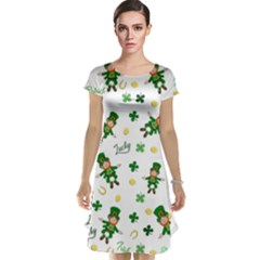 St Patricks Day Pattern Cap Sleeve Nightdress