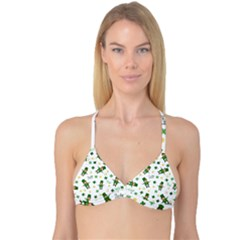 St Patricks Day Pattern Reversible Tri Bikini Top