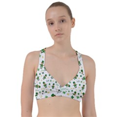 St Patricks Day Pattern Sweetheart Sports Bra
