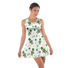 St Patricks Day Pattern Cotton Racerback Dress