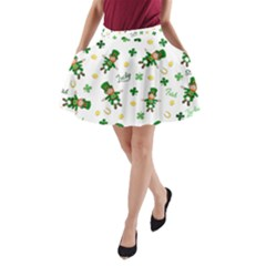 St Patricks Day Pattern A Line Pocket Skirt