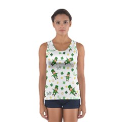St Patricks Day Pattern Sport Tank Top