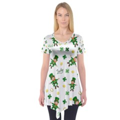 St Patricks Day Pattern Short Sleeve Tunic