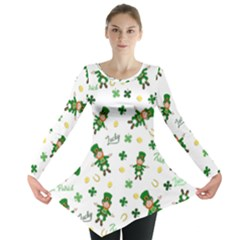 St Patricks Day Pattern Long Sleeve Tunic