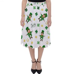 St Patricks Day Pattern Folding Skater Skirt