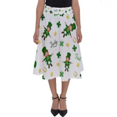 St Patricks Day Pattern Perfect Length Midi Skirt