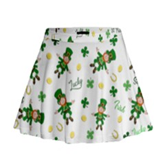 St Patricks Day Pattern Mini Flare Skirt
