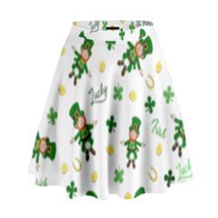St Patricks Day Pattern High Waist Skirt