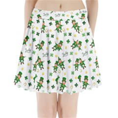 St Patricks Day Pattern Pleated Mini Skirt