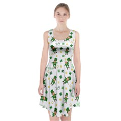 St Patricks Day Pattern Racerback Midi Dress