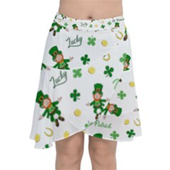 St Patricks Day Pattern Chiffon Wrap