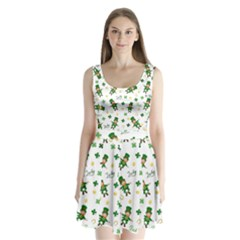 St Patricks Day Pattern Split Back Mini Dress