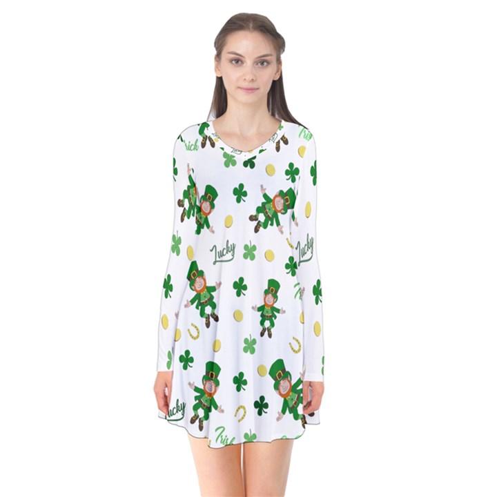 St Patricks day pattern Flare Dress