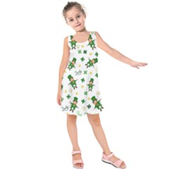 St Patricks Day Pattern Kids  Sleeveless Dress