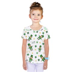 St Patricks Day Pattern Kids  One Piece Tee