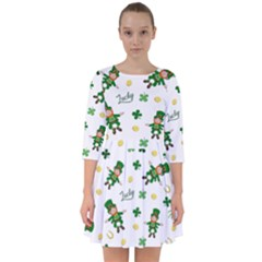 St Patricks Day Pattern Smock Dress