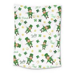 St Patricks Day Pattern Medium Tapestry