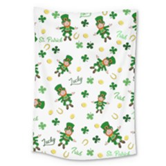 St Patricks Day Pattern Large Tapestry