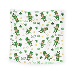 St Patricks Day Pattern Square Tapestry (small)