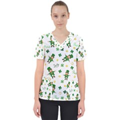St Patricks Day Pattern Scrub Top