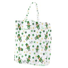 St Patricks Day Pattern Giant Grocery Zipper Tote