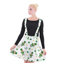 St Patricks Day Pattern Suspender Skater Skirt