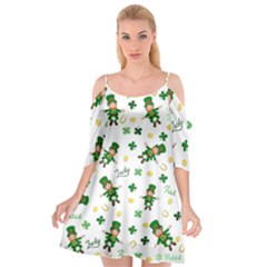 St Patricks Day Pattern Cutout Spaghetti Strap Chiffon Dress