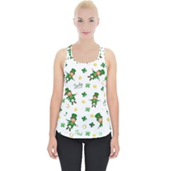St Patricks Day Pattern Piece Up Tank Top