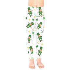 St Patricks Day Pattern Kids  Legging