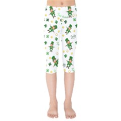St Patricks Day Pattern Kids  Capri Leggings