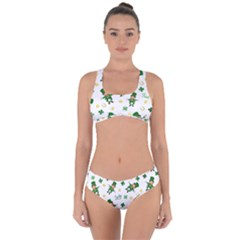 St Patricks Day Pattern Criss Cross Bikini Set