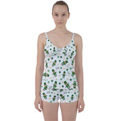 St Patricks Day Pattern Tie Front Two Piece Tankini