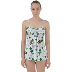 St Patricks Day Pattern Babydoll Tankini Set