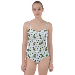 St Patricks Day Pattern Sweetheart Tankini Set