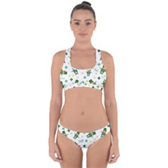 St Patricks Day Pattern Cross Back Hipster Bikini Set