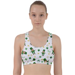 St Patricks Day Pattern Back Weave Sports Bra