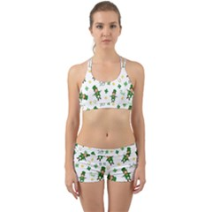 St Patricks Day Pattern Back Web Sports Bra Set