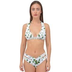 St Patricks Day Pattern Double Strap Halter Bikini Set