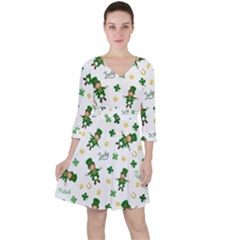 St Patricks Day Pattern Ruffle Dress