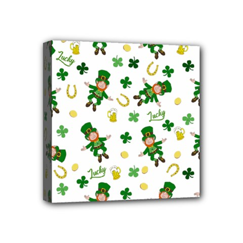 St Patricks Day Pattern Mini Canvas 4  X 4