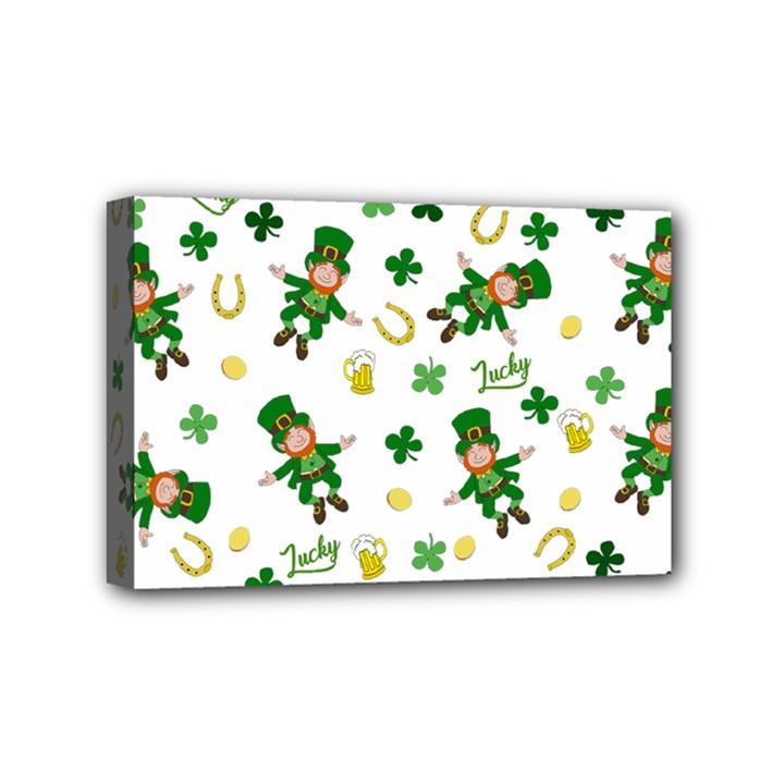 St Patricks day pattern Mini Canvas 6  x 4