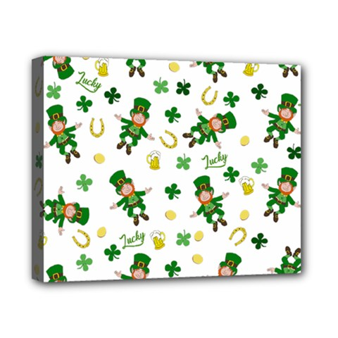 St Patricks Day Pattern Canvas 10  X 8