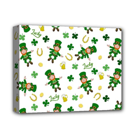 St Patricks Day Pattern Deluxe Canvas 14  X 11
