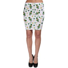 St Patricks Day Pattern Bodycon Skirt