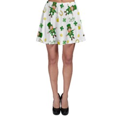 St Patricks Day Pattern Skater Skirt